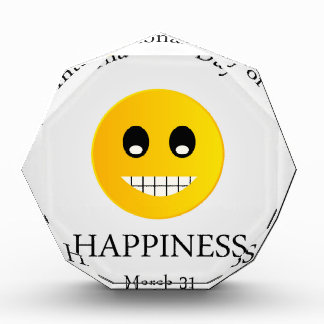 International Day of Happiness- Commemorative Day Award