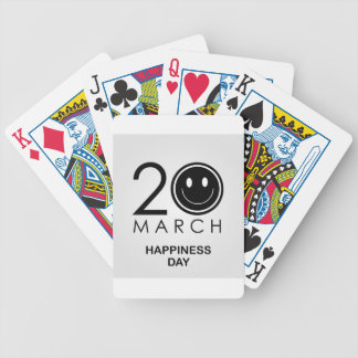 International Day of Happiness- Commemorative Day Bicycle Playing Cards
