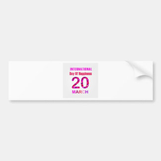 International Day of Happiness- Commemorative Day Bumper Sticker
