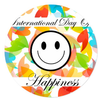 International Day of Happiness- Commemorative Day Card