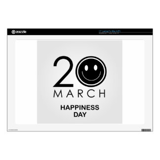 """International Day of Happiness- Commemorative Day Decals For 17"""" Laptops"""