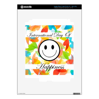 International Day of Happiness- Commemorative Day iPad 3 Decal