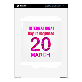 International Day of Happiness- Commemorative Day iPad 3 Decals