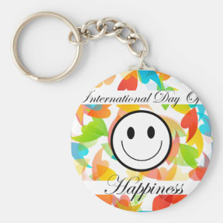 International Day of Happiness- Commemorative Day Keychain