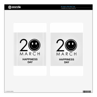 International Day of Happiness- Commemorative Day Kindle Fire Decal