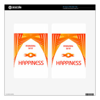 International Day of Happiness- Commemorative Day Kindle Fire Skins