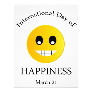 International Day of Happiness- Commemorative Day Letterhead