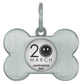 International Day of Happiness- Commemorative Day Pet ID Tag