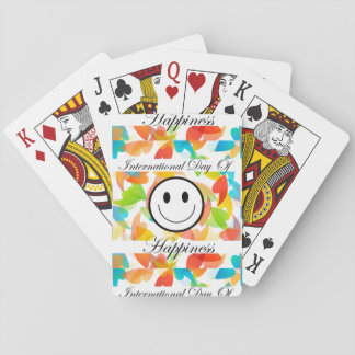 International Day of Happiness- Commemorative Day Playing Cards
