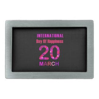 International Day of Happiness- Commemorative Day Rectangular Belt Buckle