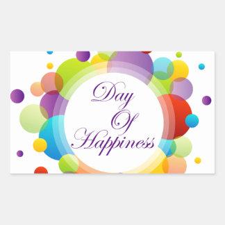 International Day of Happiness- Commemorative Day Rectangular Sticker