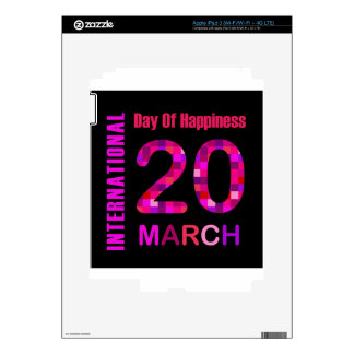 International Day of Happiness- Commemorative Day Skin For iPad 3