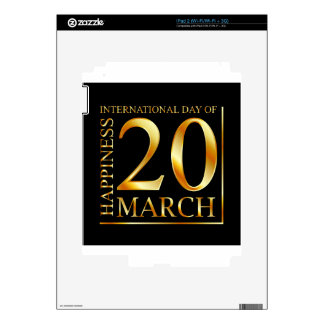 International Day of Happiness Decals For The iPad 2