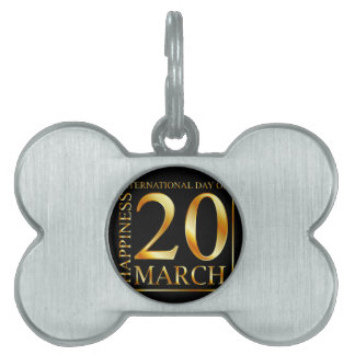 International Day of Happiness Pet Tag