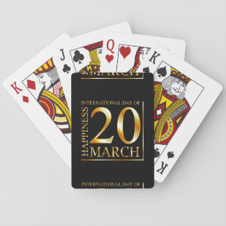 International Day of Happiness Playing Cards