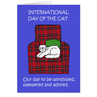 International Day of the Cat Card