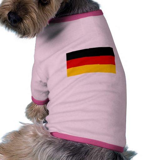International de la BANDERA de Alemania Camisetas Mascota