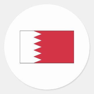 International de la BANDERA de Bahrein Pegatinas Redondas