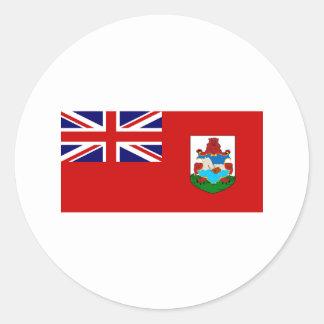 International de la BANDERA de Bermudas Pegatina Redonda