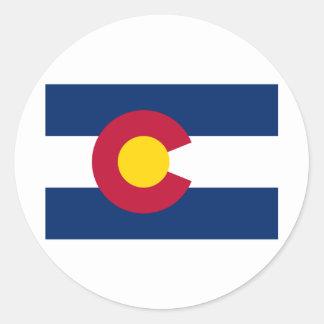 International de la BANDERA de Colorado Pegatina Redonda