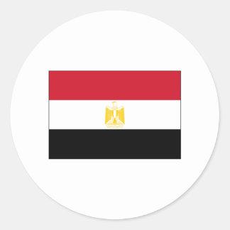 International de la BANDERA de Egipto Pegatina Redonda