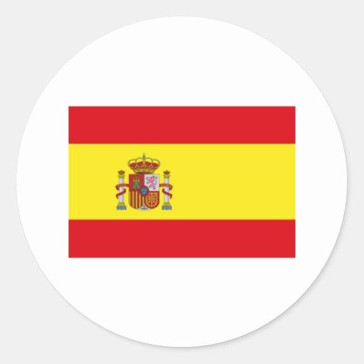 International de la BANDERA de España Etiqueta Redonda