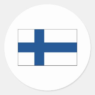 International de la BANDERA de Finlandia Pegatina Redonda