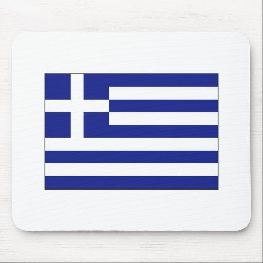 International de la BANDERA de Grecia Alfombrillas De Ratones