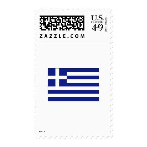 International de la BANDERA de Grecia Franqueo