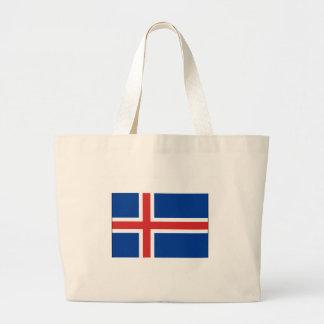 International de la BANDERA de Islandia Bolsas Lienzo