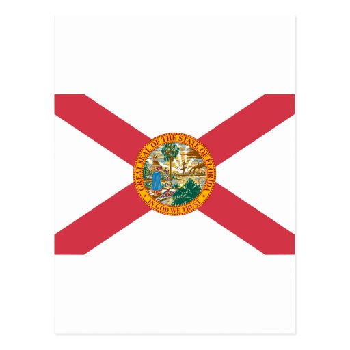 International de la BANDERA de la Florida Postales