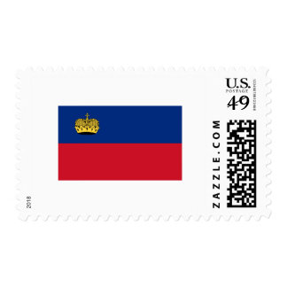 International de la BANDERA de Liechtenstein Sellos