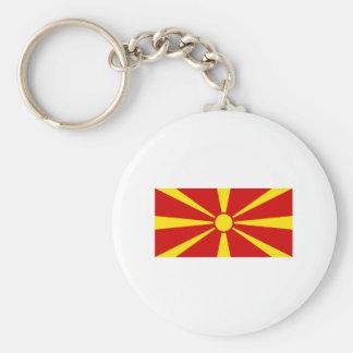 International de la BANDERA de Macedonia Llavero Redondo Tipo Chapa