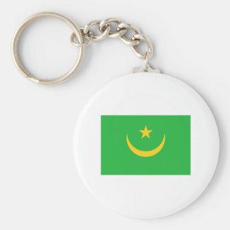 International de la BANDERA de Mauritania Llavero Redondo Tipo Chapa