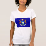 International de la BANDERA de Michigan Camiseta