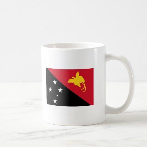 International de la BANDERA de Papúa Nueva Guinea Taza Básica Blanca