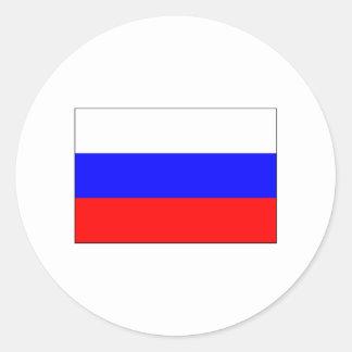 International de la BANDERA de Rusia Pegatina Redonda