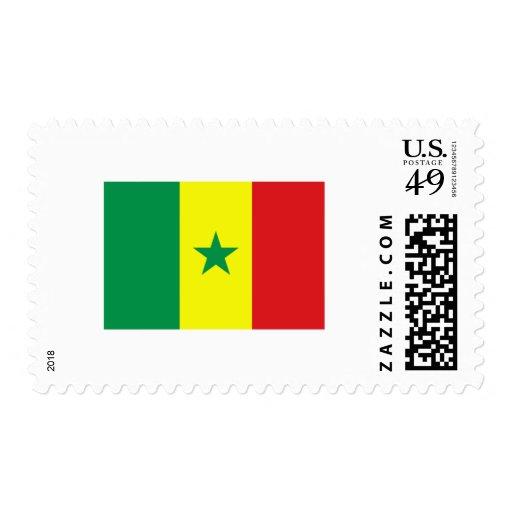 International de la BANDERA de Senegal Franqueo