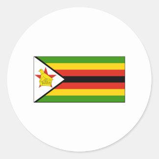 International de la BANDERA de Zimbabwe Pegatina Redonda