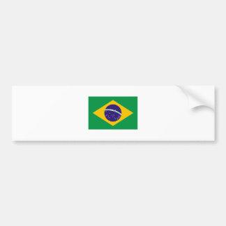 International de la BANDERA del Brasil Pegatina Para Auto