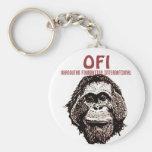 International de la fundación del orangután llaveros personalizados