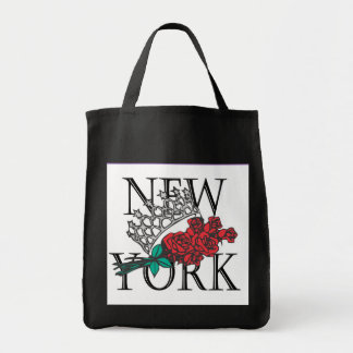International de NY - tote negro Bolsa Tela Para La Compra