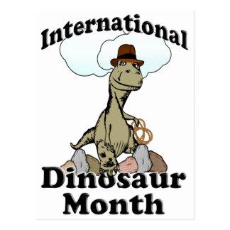 International Dinosaur Month Postcard
