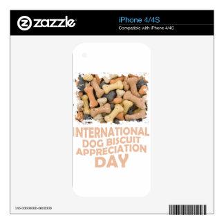 International Dog Biscuit Appreciation Day 1 iPhone 4 Skin