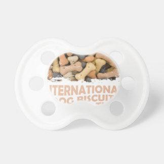 International Dog Biscuit Appreciation Day 1 Pacifier