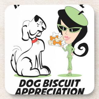 International Dog Biscuit Appreciation Day Beverage Coaster