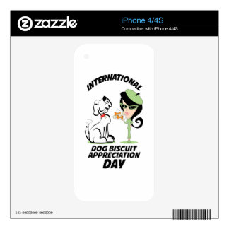 International Dog Biscuit Appreciation Day iPhone 4S Skins