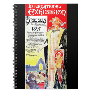 International Exhibition Poster 1897 Spiral Notebook