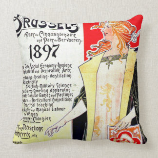 International Exhibition Poster 1897 Throw Pillow