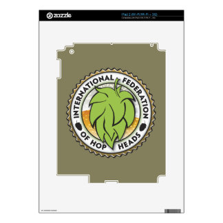 International Federation of Hop Heads Decal For iPad 2